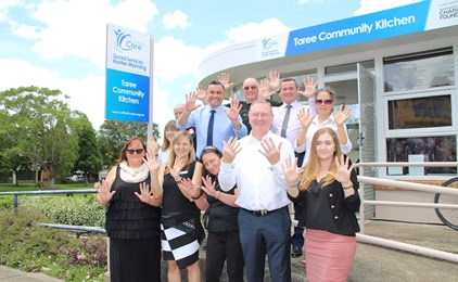 Image:Deputy Premier attends Taree Community Kitchen celebrations